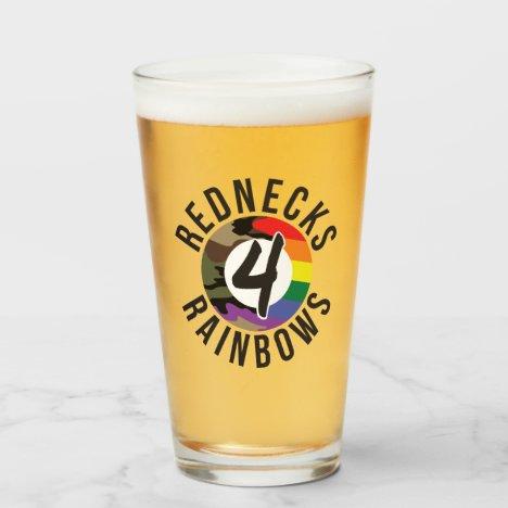 Rednecks 4 Rainbows Glass