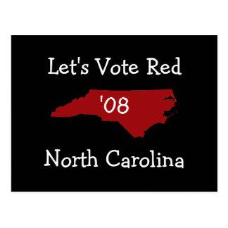rednorthcarolina, Let's Vote Red, North Carolin... Postcard
