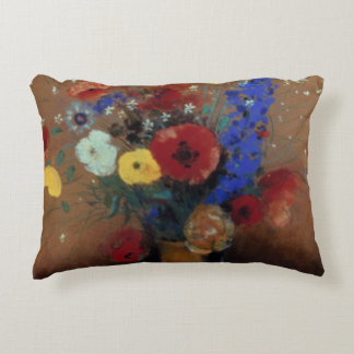 Redon: Wild Flowers, C1912 Accent Pillow