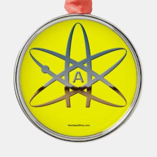 Redondo ateo del ornamento del átomo enmarcado ornamentos de navidad