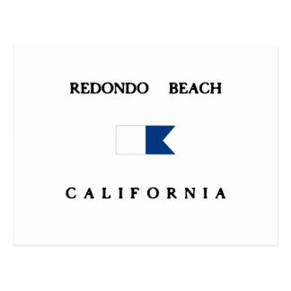 Redondo Beach California Alpha Dive Flag Postcard