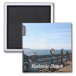 Redondo Beach California Imán Cuadrado
