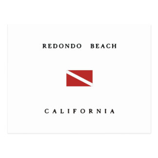 Redondo Beach California Scuba Dive Flag Postcard