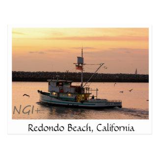 Redondo Beach, California tug boat Postcard