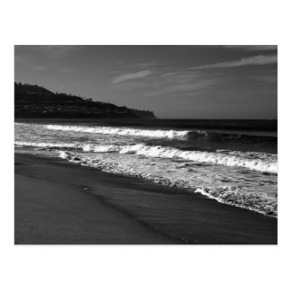 Redondo Beach in Black and White Postcard