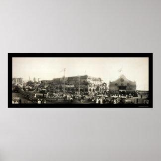 Redondo Beach People Photo 1910 Poster
