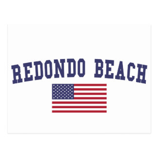 Redondo Beach US Flag Postcard