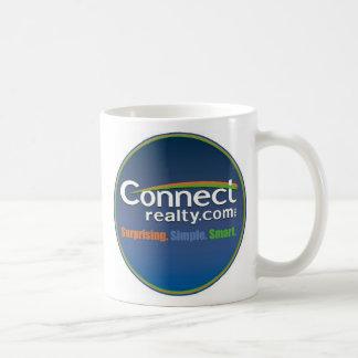 redondo conecte el logotipo taza de café
