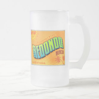 REDONDO FROSTED GLASS BEER MUG