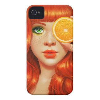 RedOrange iPhone 4 Case-Mate Protectores