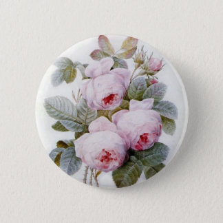 Redoute 4 (Rose) Pinback Button