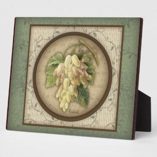 Redoute' Botanical Grape Plaque