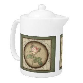 Redoute' Botanical Vintage Rose Teapot