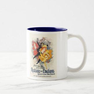 Redoute des Etudiants, Jules Chéret Two-Tone Coffee Mug