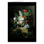 Redoute Elaborate Flowers Still LIfe Greeting Card