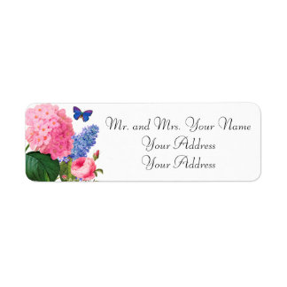 Redoute Flowers Custom Avery Address Labels
