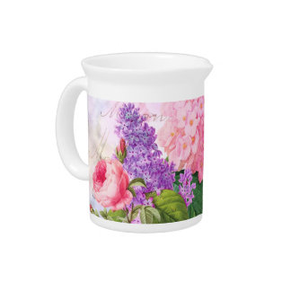 Redoute Flowers Pitcher