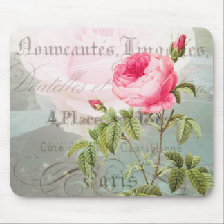 Redoute French Rose Mousepad