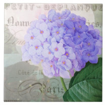 Redoute Hydrangea French Accent Ceramic Tile