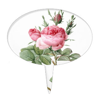 Redoute Les Rose #2 Cake Topper