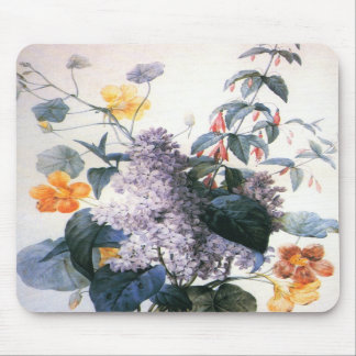 Redoute Lilac Bouquet Mousepad