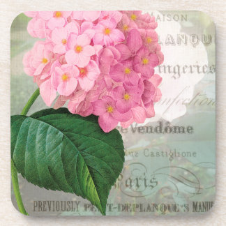 Redoute Pink Hydrangea Coasters