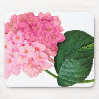 Redoute Pink Hydrangea Mousepad