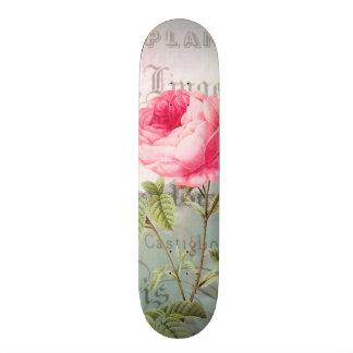 Redoute Pink Rose Skateboard Deck