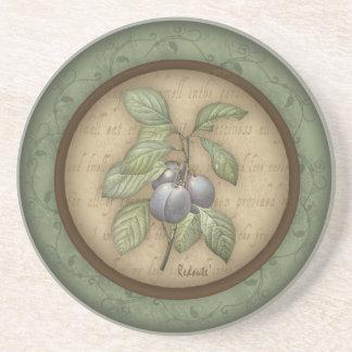 Redoute' Plum Fruit Coaster