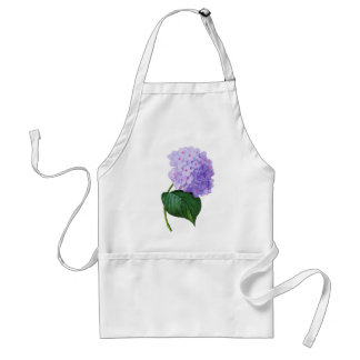 Redoute Purple Hydrangea Adult Apron
