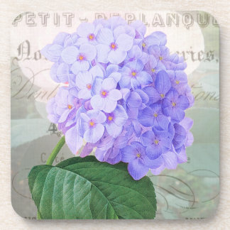 Redoute Purple Hydrangea French Accent Coasters