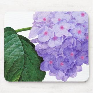Redoute Purple Hydrangea Mouse Pad