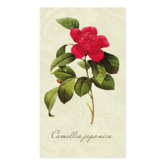 Redoute Red Camellia Gift Tags Enclosure Cards Business Card