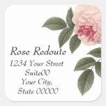 Redoute Rose Adderss Sticker