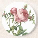 Redoute Rose Beverage Coaster