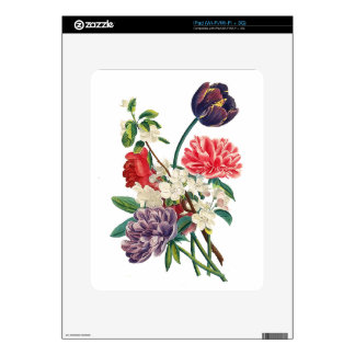 Redoute Tulips and Peonies Skins For iPad