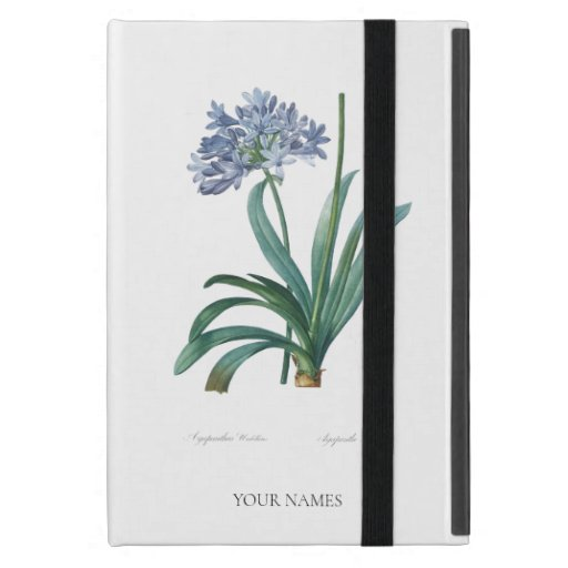 """REDOUTÉ VINTAGE """"LILY OF NILE"""" FLOWER IPAD CASE"""