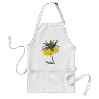 Redoute Yellow Flower Imperial Crown Adult Apron