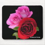 RedPinkTonedRoses2, Shalabootz Design Mouse Pad