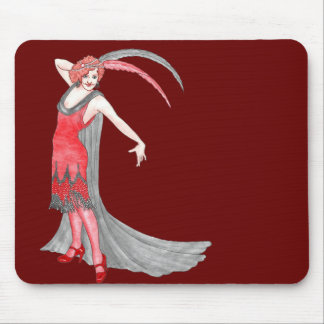 Redqueen's Scarlet Flapper Mouse Pad