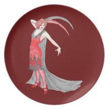 Redqueen's Scarlet Flapper Plate