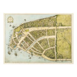 Redraft of the Castello Plan New Amsterdam in 1660 Photo Print