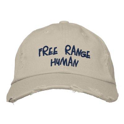 REDREAMING FREE RANGE HUMAN bbcap Embroidered Baseball Cap