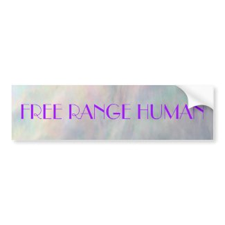 REDREAMING FREE RANGE HUMAN sticker bumpersticker