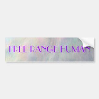 REDREAMING FREE RANGE HUMAN sticker Bumper Stickers