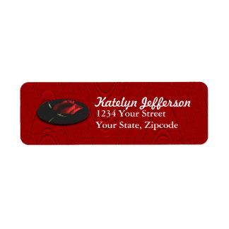 RedRose medallion on blk label-customize it Label