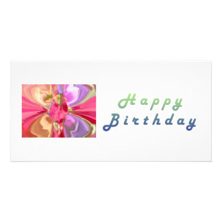 RedRose PinkRose Crystal Butterfly Art Card