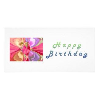 RedRose PinkRose Crystal Butterfly Art Card