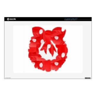 "RedRose : Silk Fabric Patchwork Wreath Classic 15"" Laptop Skins"