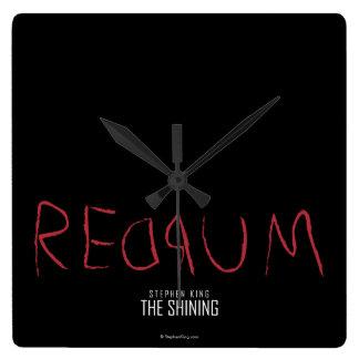 Redrum Reloj Cuadrado